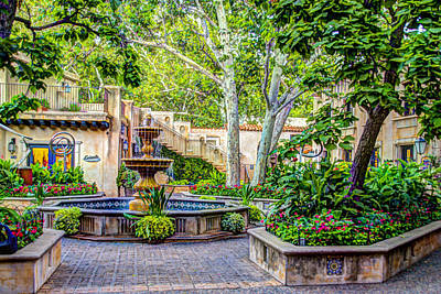 Tlaquepaque Photograph - Tlaquepaque Shopping Village -  Sedona  Arizona by Jon Berghoff