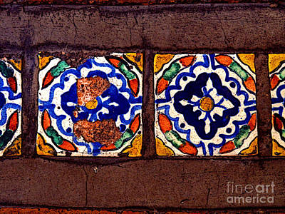 Tlaquepaque Photograph - Tlaquepaque Tile Study 1 by Mexicolors Art Photography