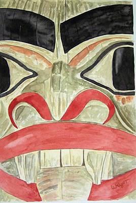 Tlingit Clan Beaver Art Print by Larry Wright