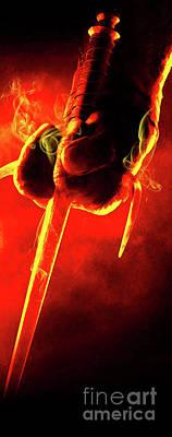 Abstract Digital Art - Tmnt 1   -  Raphael Smoky Red. by Prar Kulasekara