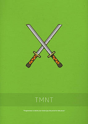 Reptiles Mixed Media - Tmnt My Favorite Tv Shows Series 003 by Design Turnpike
