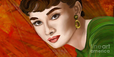 Digital Art - To Audrey by Sydne Archambault
