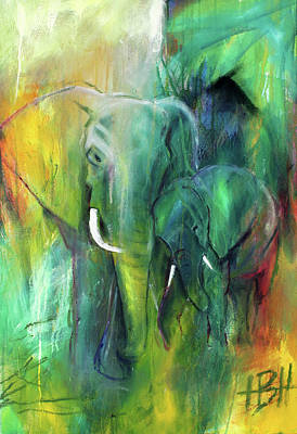 Wild Animals Painting - To Be Continued 1 by Helle Borg Hansen