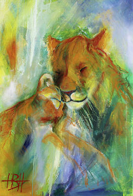 Wild Animals Painting - To Be Continued 2 by Helle Borg Hansen