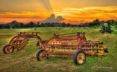 Photograph - To Be Continued Hayfield Sunset by Reid Callaway