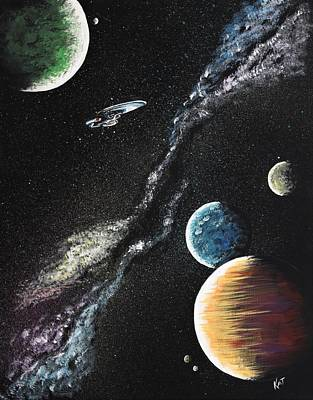 Painting - To Boldly Go by Kat Heckenbach