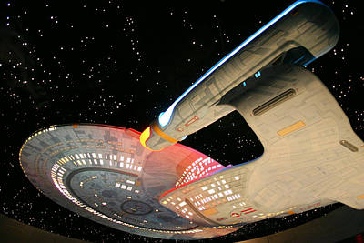 Enterprise Photograph - To Boldly Go by Kristin Elmquist