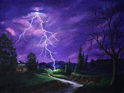 Thunder Painting - To Close by Marlene Kinser Bell