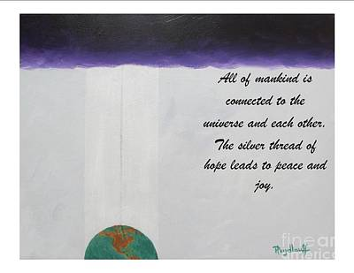 Painting - To Each I Give All - Spiritual Poster by Pat Heydlauff