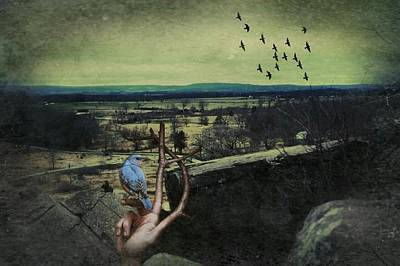 Little Round Top Digital Art - To Freedom And Glory Again by Shelley Smith