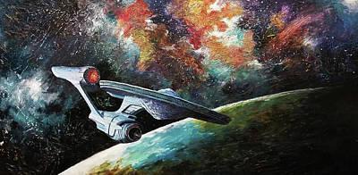 Painting - To Go Beyond  by David Maynard