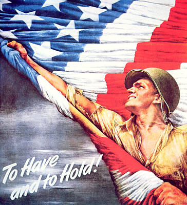 Flagpole Painting - To Have And To Hold by American School