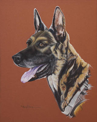 Painting - To Honor The Navy Seals K9 Storm Intruders by Mary Dove