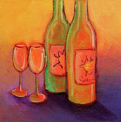 Napa Valley Vineyard Painting - To Love by Nancy Matus