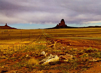Photograph - Navajo Land At Sunset by Gilbert Artiaga