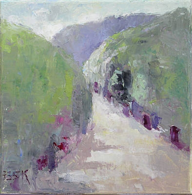 Pallet Knife Painting - To Mountain by Becky Kim