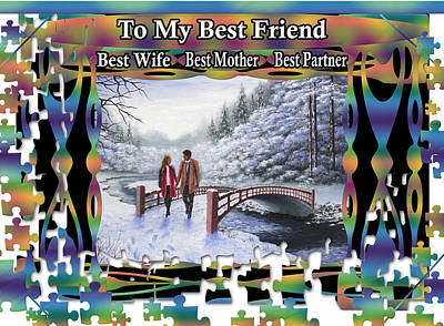 Painting - To My Best Friend - Best Wife, Best Mother, Best Partner by Saeed Hojjati