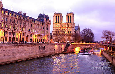 Photograph - To Notre Dame At Night by John Rizzuto