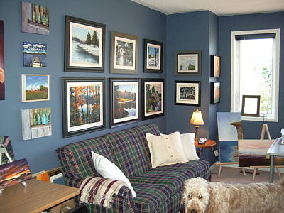 Art Print featuring the painting To Our Arts Content 2 by Diane Daigle