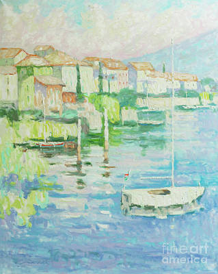 Lake Como Painting - To Rest Awhile by Jerry Fresia