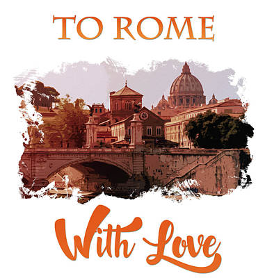 Painting - To Rome With Love by Andrea Mazzocchetti