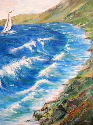To Shore - Maui Art Print by Cheryl Ehlers