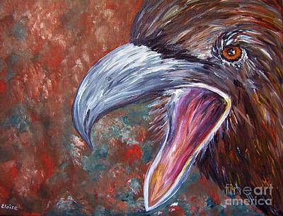 Sour Painting - To Speak Of Eagles by Eloise Schneider