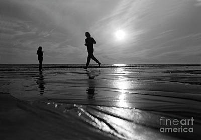 Valentines Day - To Stand and Run in Harmony, Pacific Palisades Beach, Ocean by Wernher Krutein