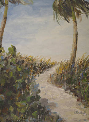 Sanibel Island Painting - To The Beach by Alan Lakin