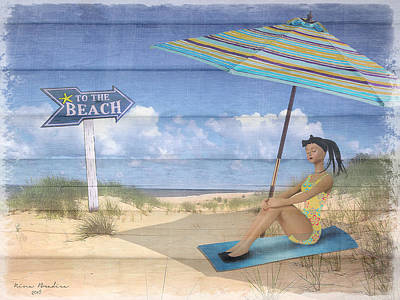 Digital Art - To The Beach by Nina Bradica