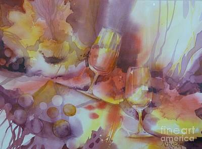 Painting - To The Bottom Of The Glass by Donna Acheson-Juillet