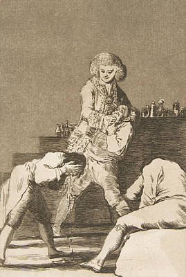 Relief - To The Count Palatine by Francisco Goya
