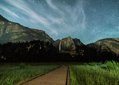 Yosemite Falls Photograph - To The Falls by Kristopher Schoenleber