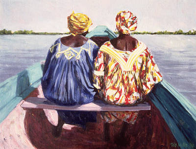 African Woman Painting - To The Island by Tilly Willis