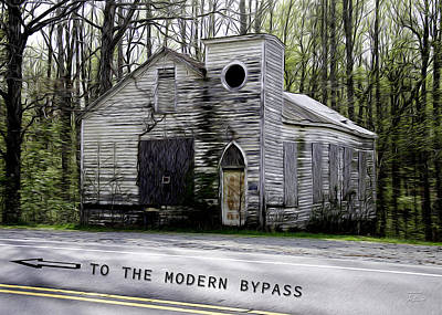 Modernity Digital Art - To The Modern Bypass by Joe Paradis