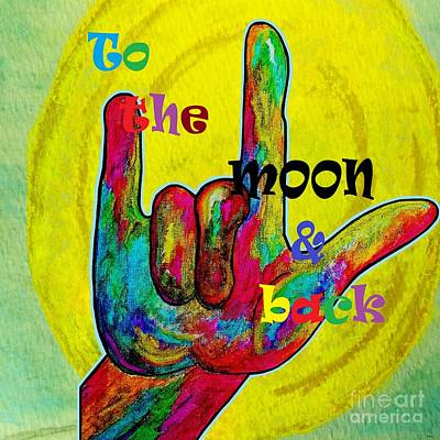 To The Moon And Back Original by Eloise Schneider