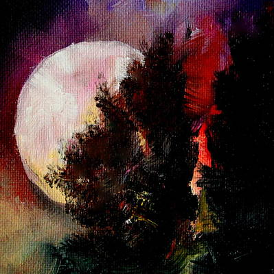 Painting - To The Moon And Back by Michele Carter