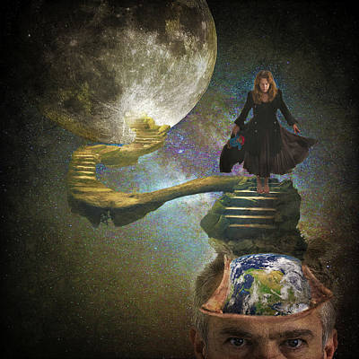 Digital Art - To the Moon and Back by Steve Fisher