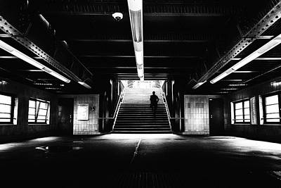 Abstract Street Photograph - To The Platforms - Street Photography by Frank Andree