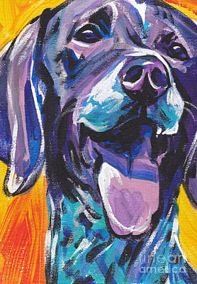 Dog Pop Art Painting - To The Point by Lea S