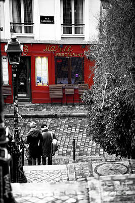 Photograph - To The Restaurant In Montmartre by John Rizzuto