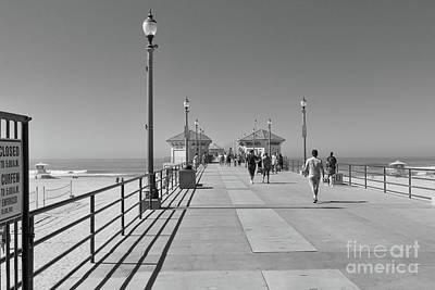 Photograph - To The Sea On Huntington Beach Pier by Ana V Ramirez