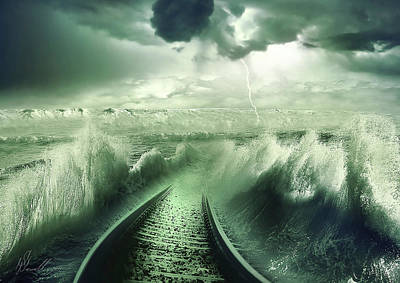 Storm Digital Art - To The Sea by Svetlana Sewell