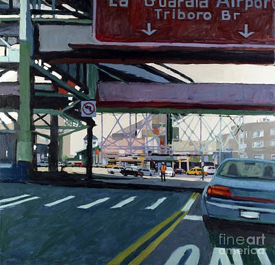 News Painting - To The Triboro by Patti Mollica