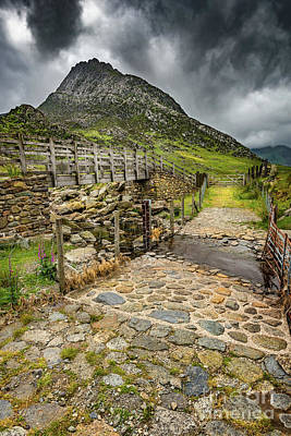 Photograph - To Tryfan Mountain Snowdonia by Adrian Evans