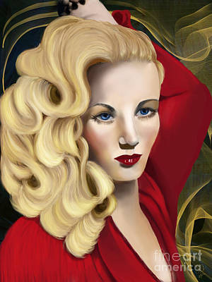 Digital Art - To Veronica Lake by Sydne Archambault