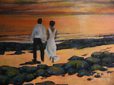 Painting - To Wed At Rocky Point by Terri Thompson