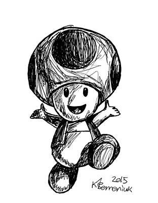 Drawing - Toad by Kayleigh Semeniuk