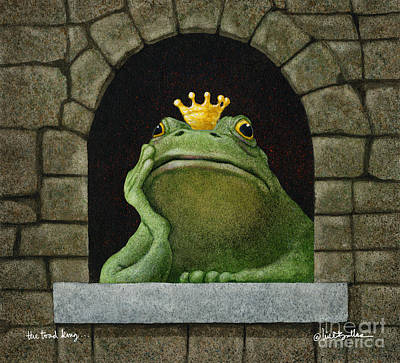Princes Painting - Toad King... by Will Bullas