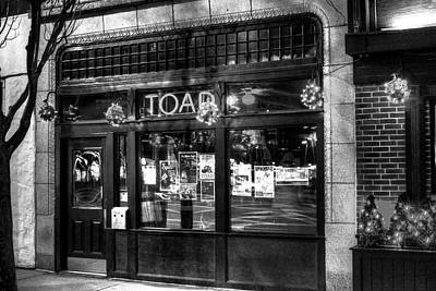 Photograph - Toad Porter Square Cambridge Ma Black And White by Toby McGuire